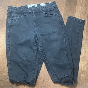 GARAGE HIGH RISE BLACK RIPPED DENIM JEANS PANTS JEGGING WOMENS SIZE 5 SIZE SMALL